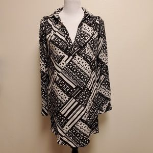 Sparkle & Fade Urban Outfitters B&W Shirt Dress